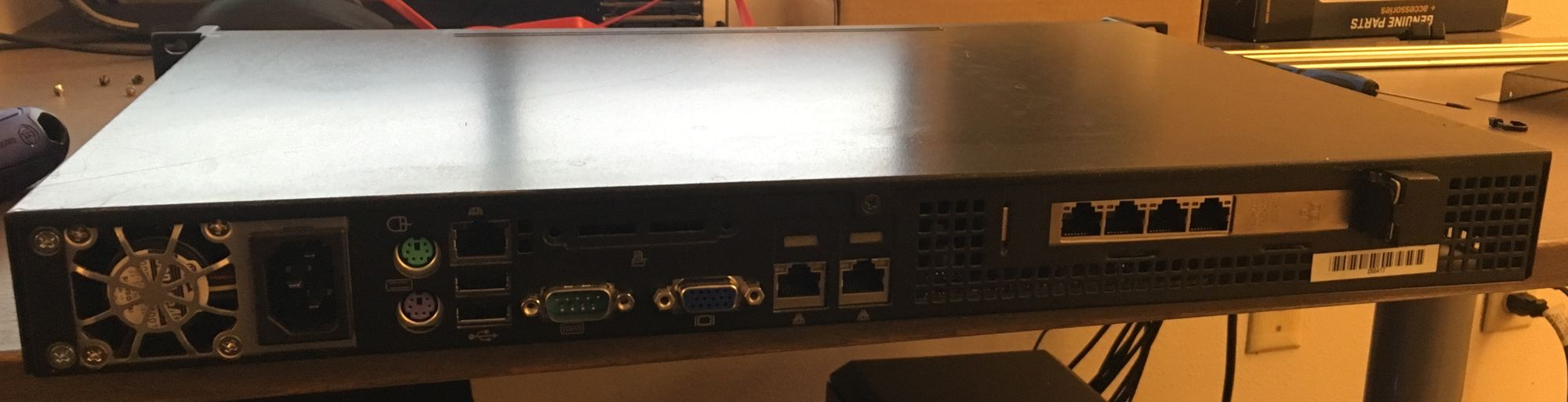 My overkill 1u pfSense build