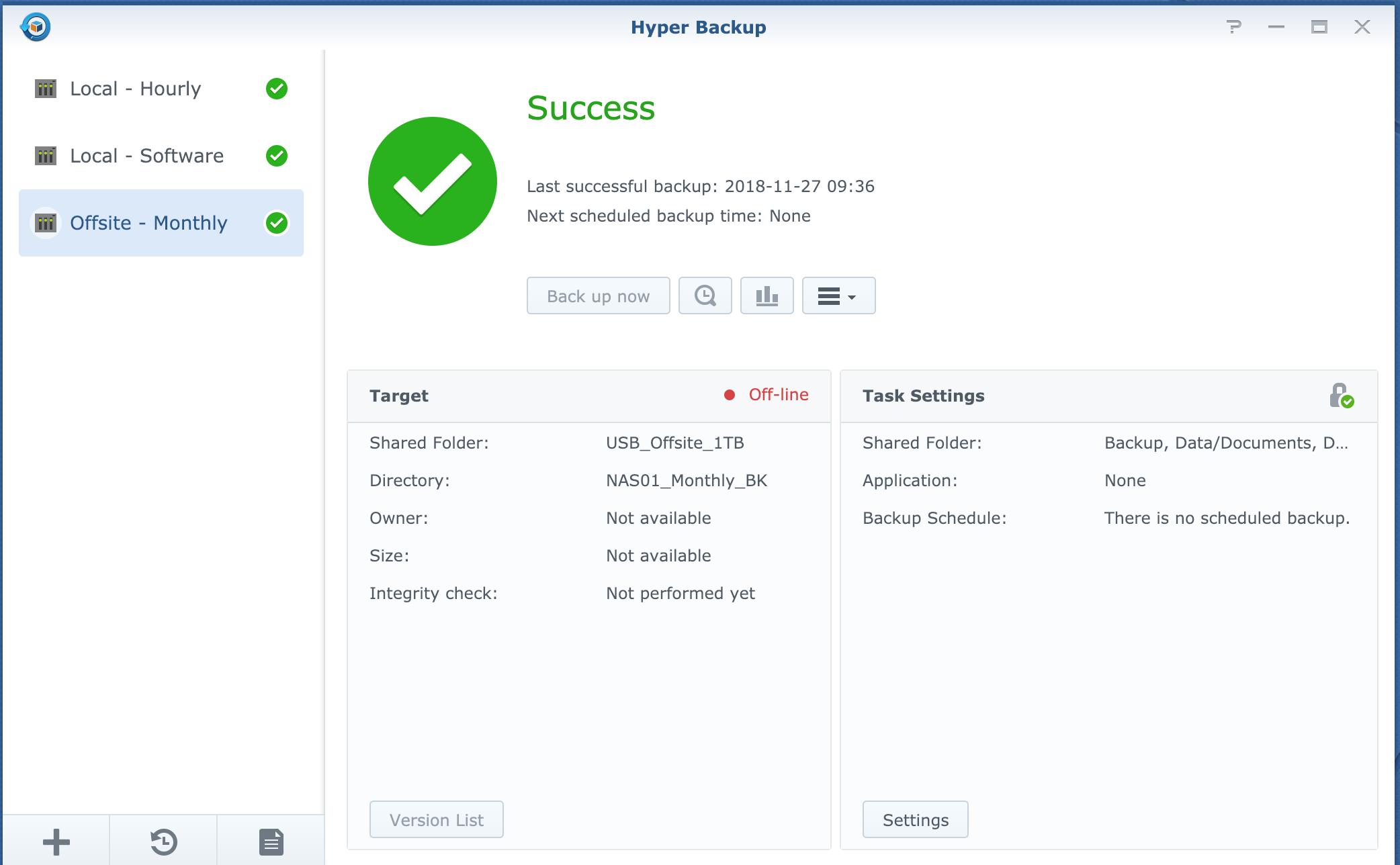My Backup/Data Protection Plan