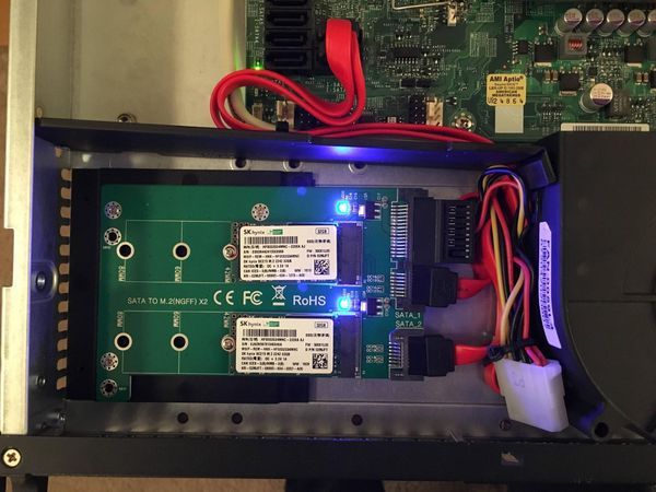 Redundant M.2 SATA SSD's in pfSense Firewall